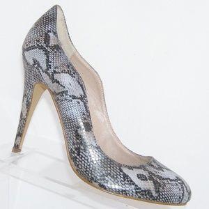 Kelsi Dagger 'Lillian' leather snake heels 10M